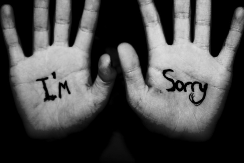 When sorry seems to be the hardest word